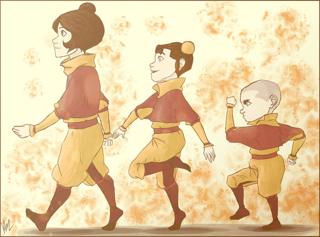 The airbender kids by bealor