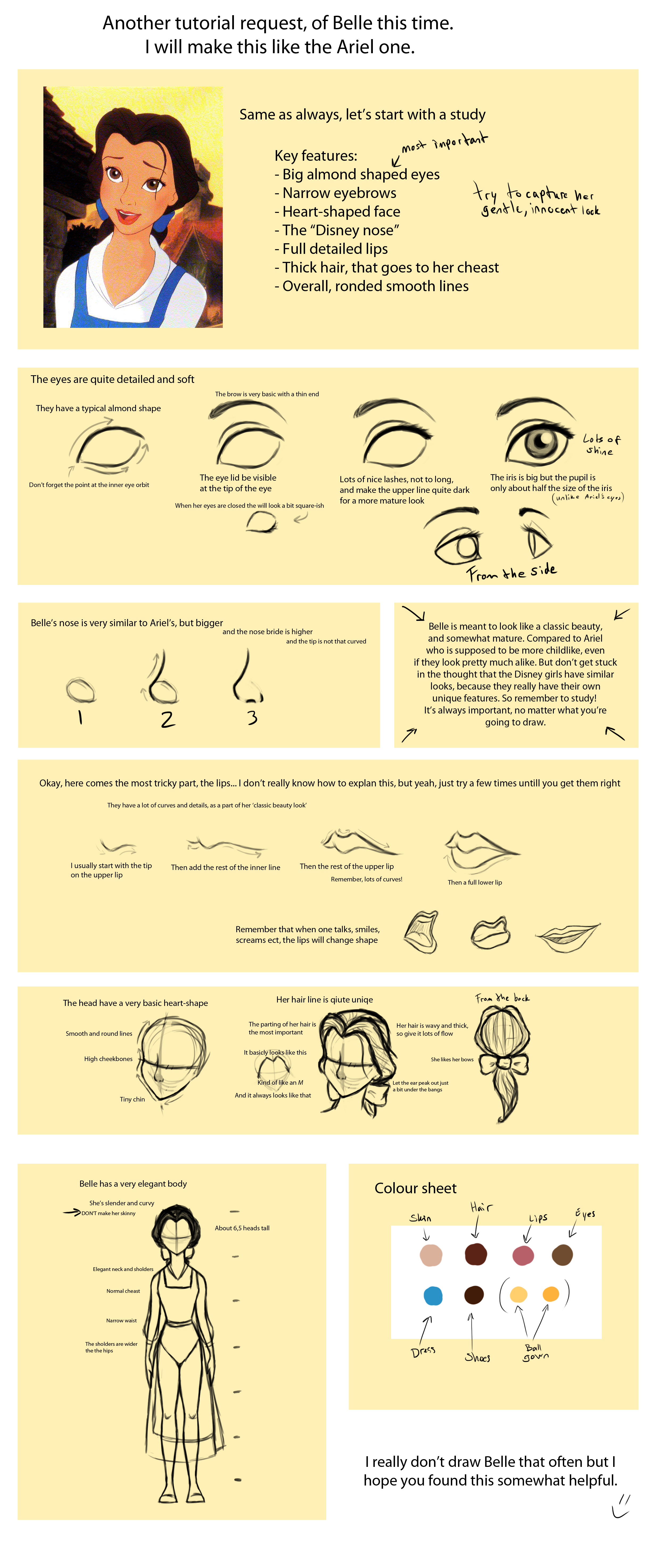 Tutorial: Draw Belle by bealor