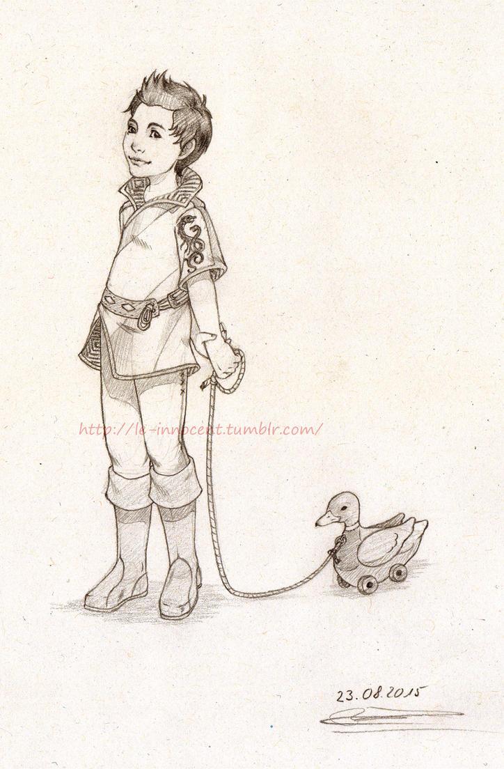 Little Dorian and Ser Snattles, the wooden Duck by MC-Neko