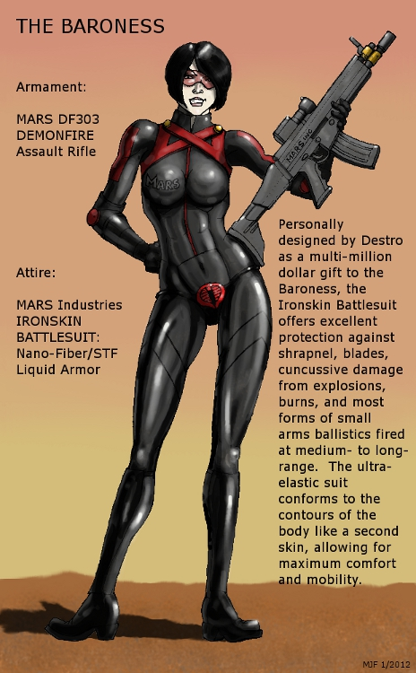 GI Joe The Baroness Renegades Outfit by MJFCreations