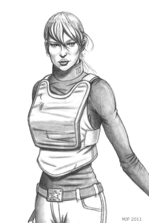 GI Joe Renegades Scarlett sketch 1 by MJFCreations