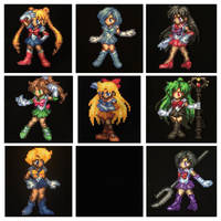 Sailor Scouts Perler Bead Sprites by Amber--Lynn