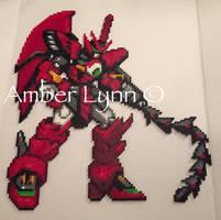 Epyon Gundam Wing Perler Bead Design by Amber--Lynn