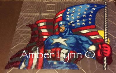 Captain America Flag Perler Bead Design by Amber--Lynn