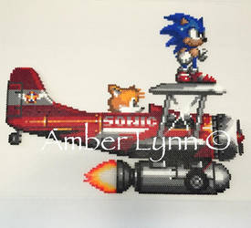 Sonic and Tails Tornado Fusion Bead Design by Amber--Lynn