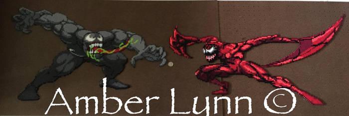 Carnage versus Venom by Amber--Lynn