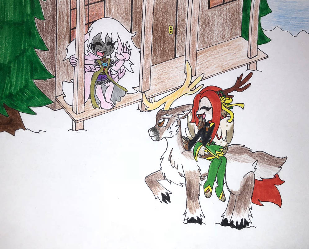 Contest: Snowy encounter by HopesSilverLight