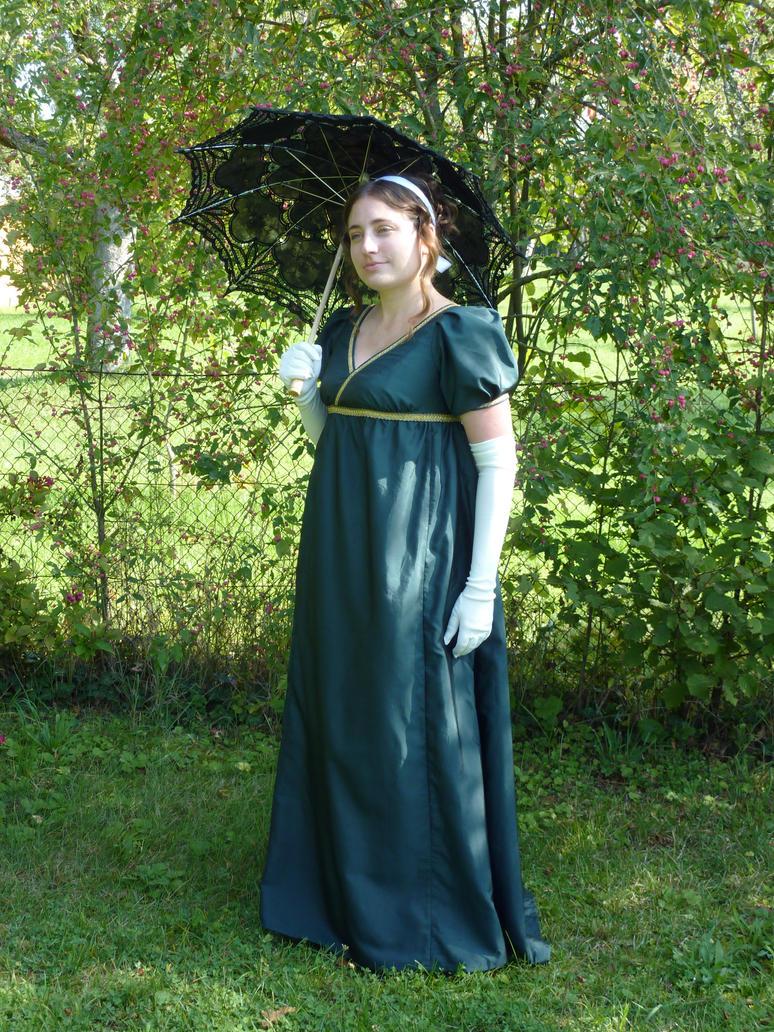 Regency Gown Green Silk by HEXEnART on DeviantArt