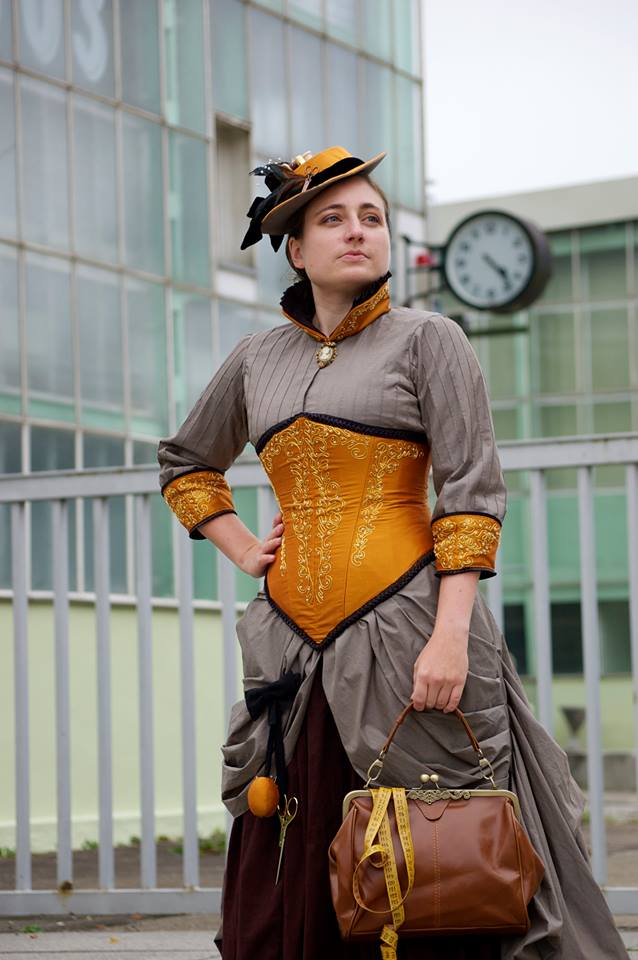 Steampunk Seamstress Dress by HEXEnART