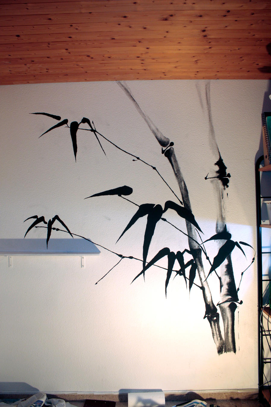 Bamboo wall painting by vodoc on deviantart A wall painting