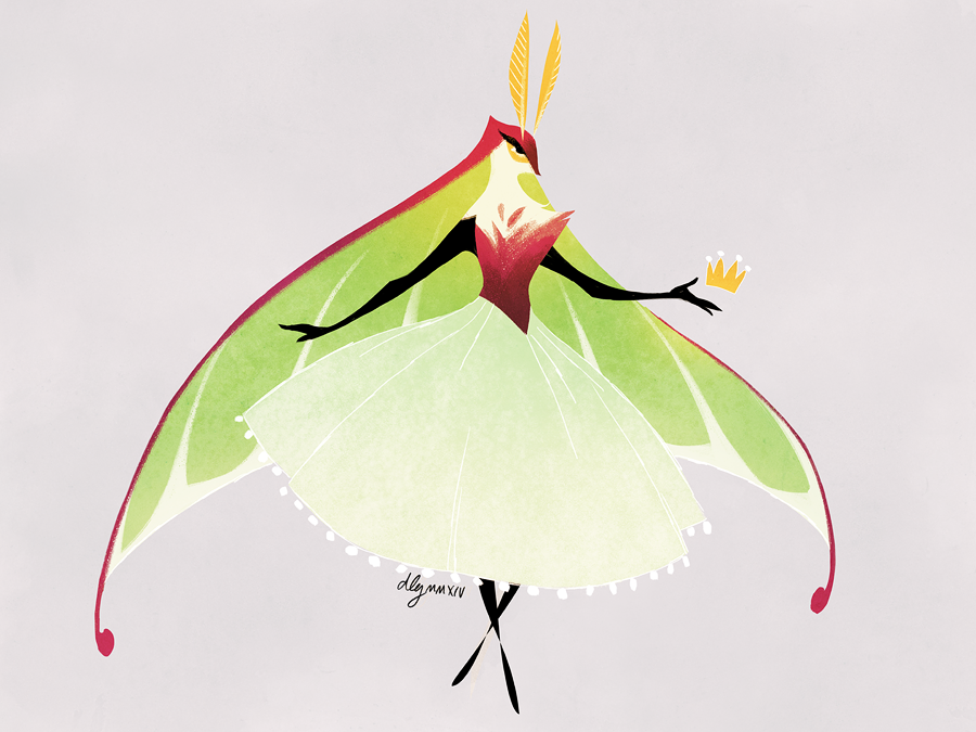 Moth Princess by drawnbydana
