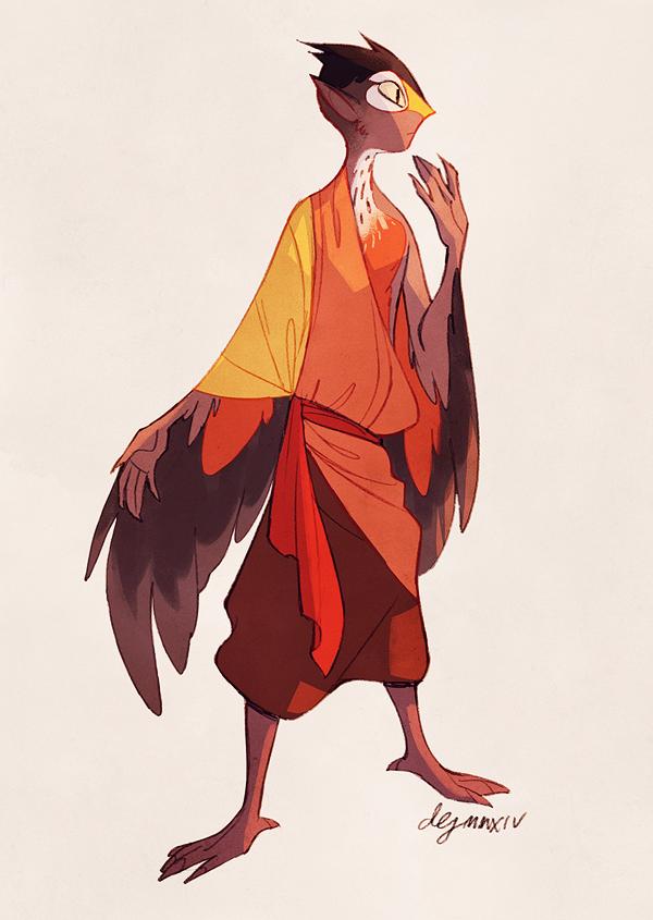 Robin monk by danarune