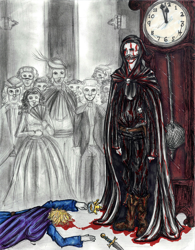 """an analysis of the masked figure in the masque of the red death by edgar allan poe Edgar allen poe wrote the short story """"the masque of the red death"""" in 1842  [ tags: literary analysis, escaping reality]  by these feelings was intensified  when many individuals in the party became aware of a mysterious masked figure, ."""