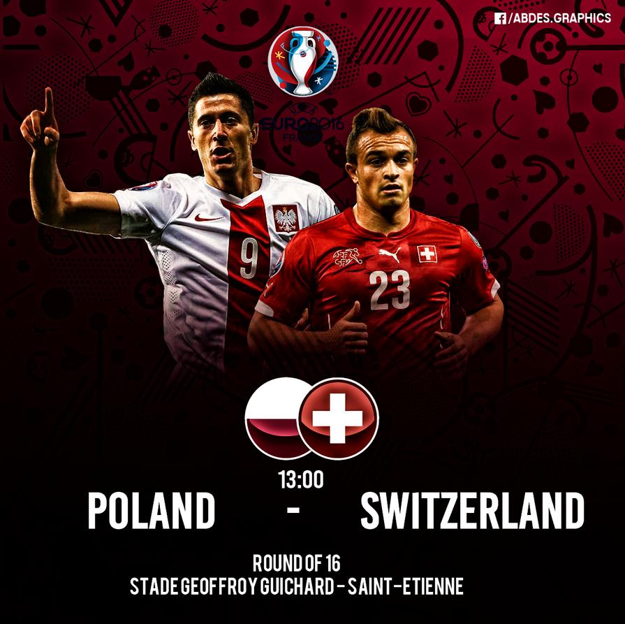 Euro 2016 : Poland vs  Switzerland by Abdessamad-zak