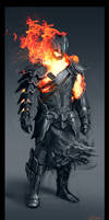 Fire Warrior by GeorgeLovesyArt