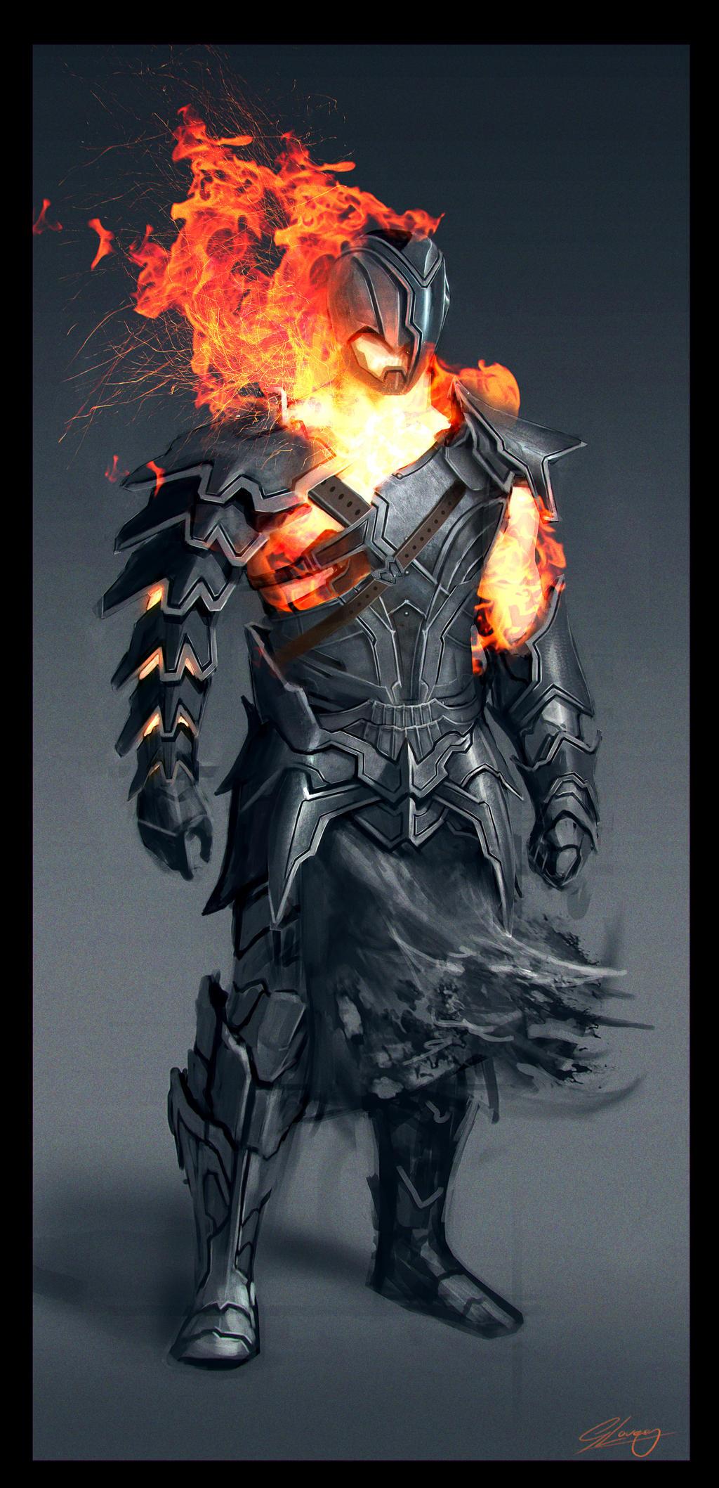 Fire Warrior by GeorgeLovesyArt
