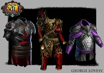 Path Of Exile Armours by GeorgeLovesyArt