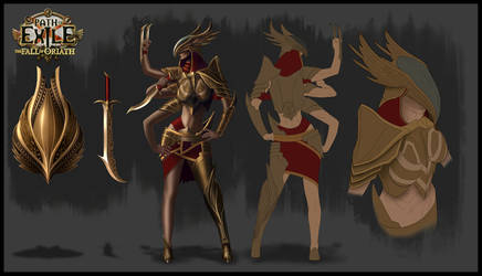 Path of Exile- Boss Character Design by GeorgeLovesyArt