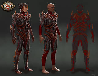 Spider Armour Set-Path of Exile by GeorgeLovesyArt