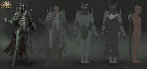 Path of Exile: Gothic Horror Armour Set by GeorgeLovesyArt