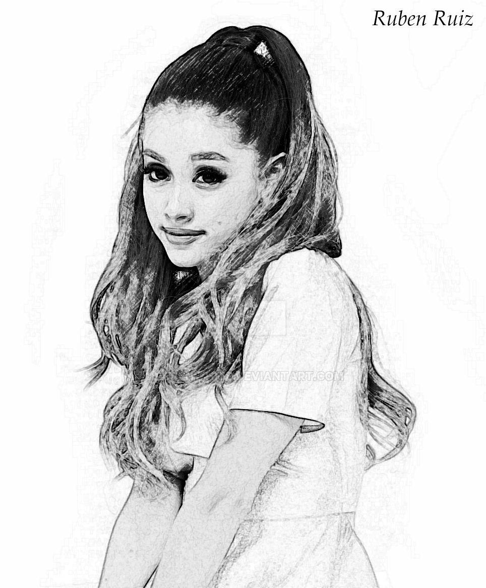 Ariana Grande - Drawing Portrait By RubenWhite On DeviantArt