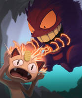Meowth got Gengard! by pegosho