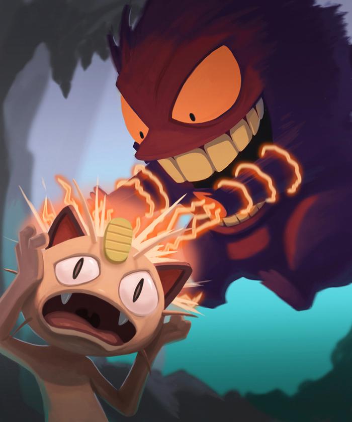 Meowth got Gengard!