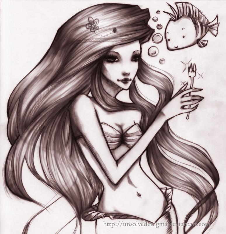 Ariel - The Little Mermaid by unsolvedenigma