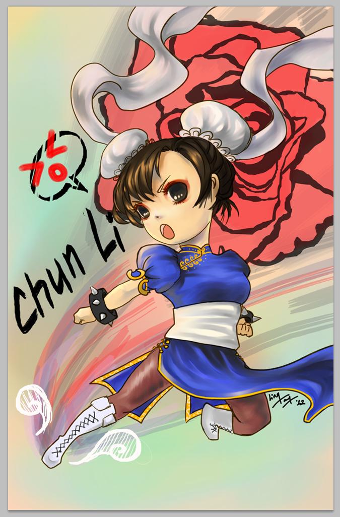 chibi chun li KICK! - 325 by unsolvedenigma