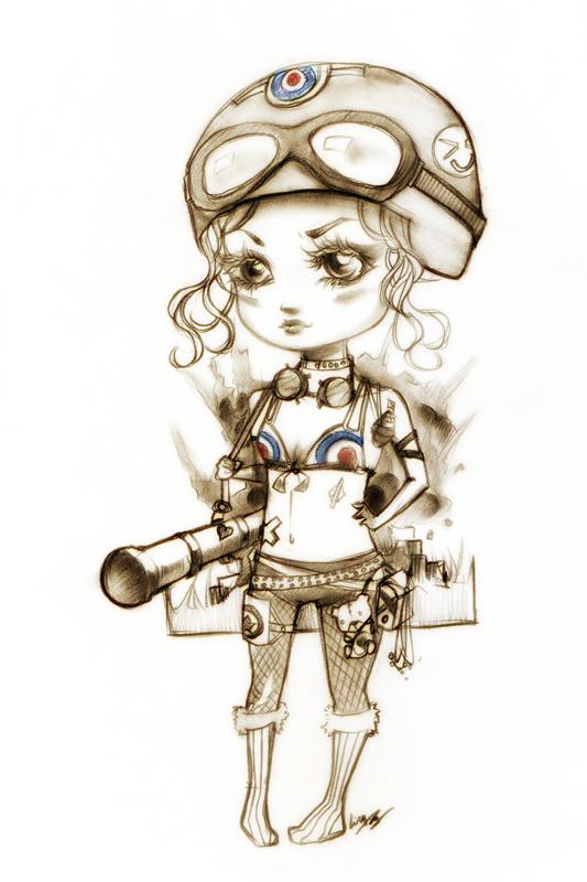 Tankgirl Chibi by unsolvedenigma