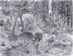 Styracosaurus herd