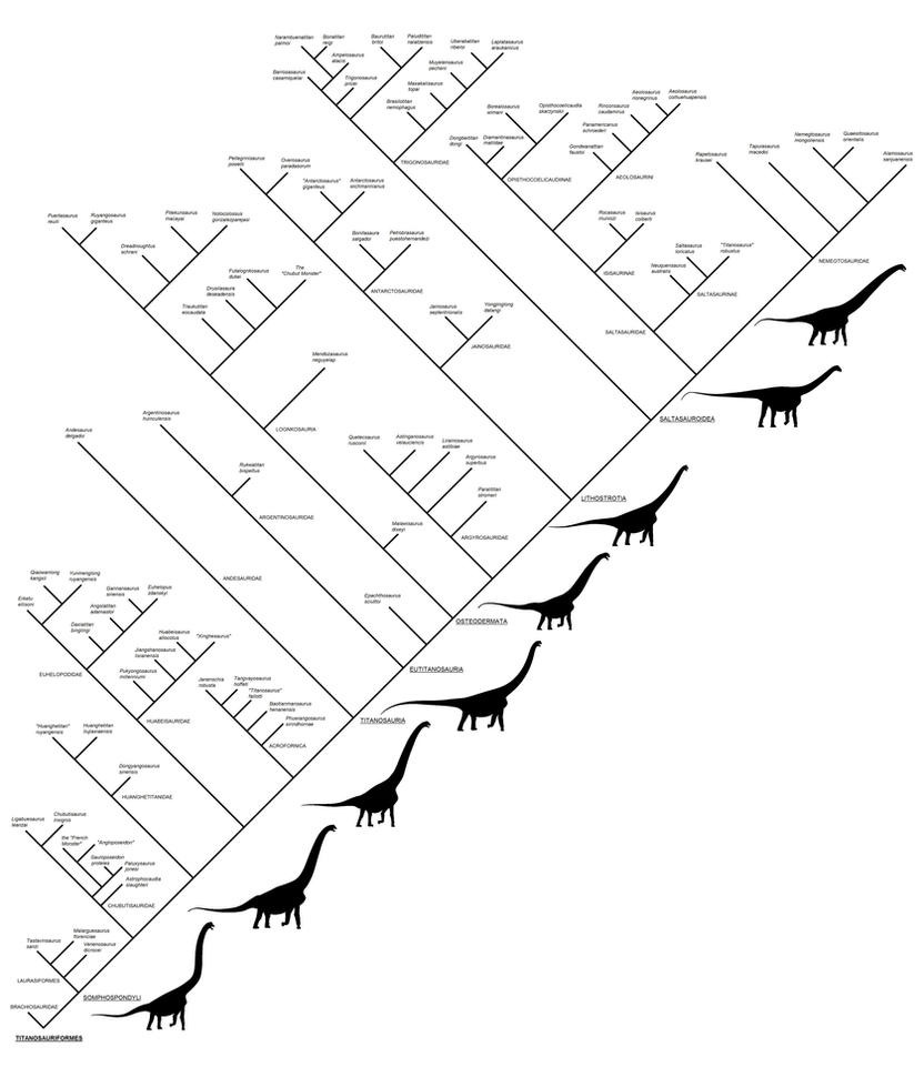 Titanosaurs and other Somphospondyli by Paleo-King
