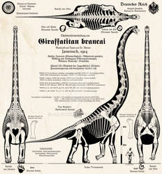 Giraffatitan brancai - Imperial German edition!