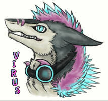 Virus Badge - Sergal by TrakyTuesdays