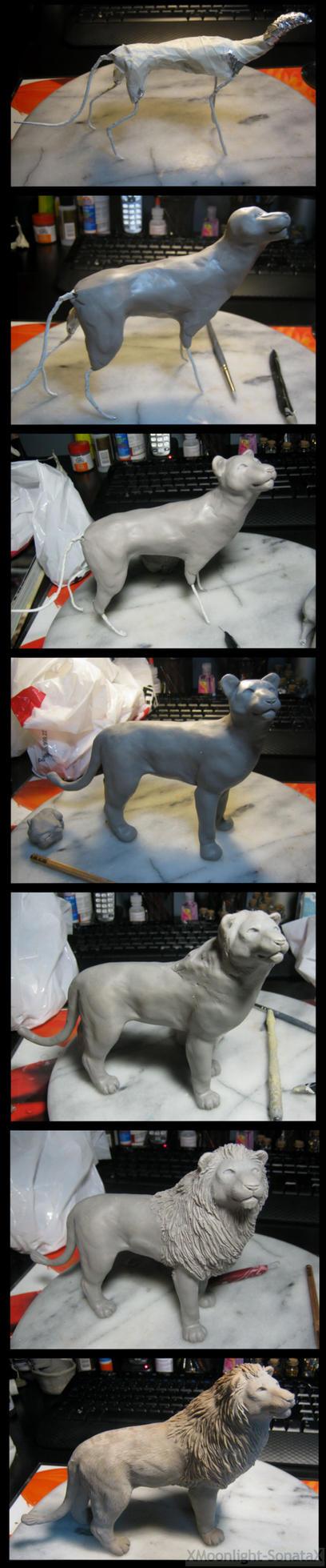 :.Lion Process.: by XPantherArtX