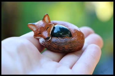 :.OOAK Fox Figurine.: