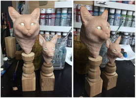 :.Pet busts - WIP.: by XPantherArtX