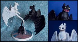 :.Toothless and Lightfury .: