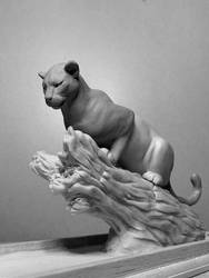 Leopard sculpture - WIP