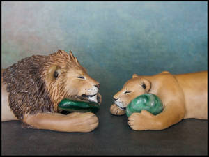 :.Lion and lioness.: