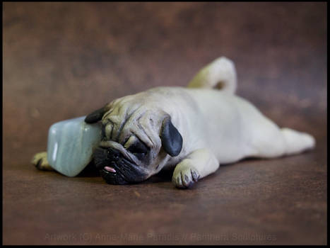 :.Pug and blue laced agate.: