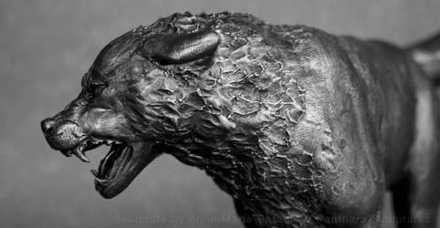 Wolf study - polymer clay sculpture
