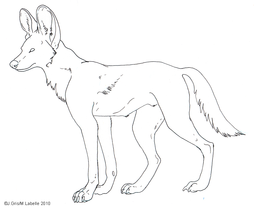 Free Lineart Painted Dog By MisterAsphodel On DeviantArt