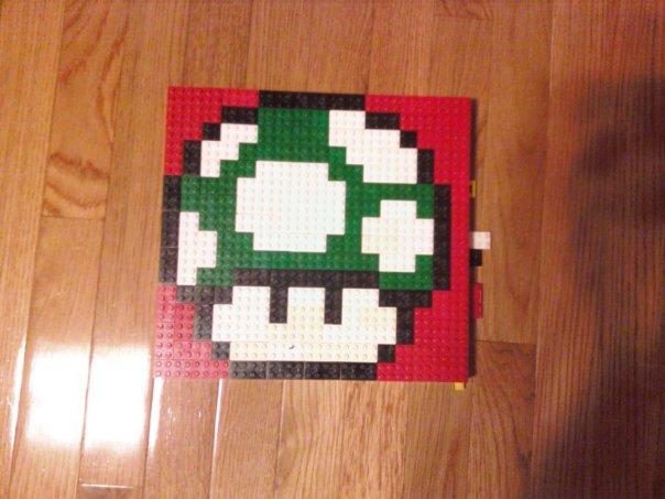 Lego 1UP Mushroom by Hatsunemiku1594