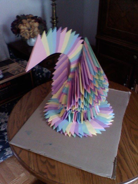 500 Piece Swan Modular Origami By Hatsunemiku1594