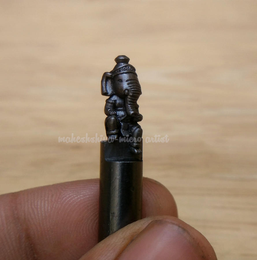 Ganesha sculpture on pencil lead by maheshiva deviantart