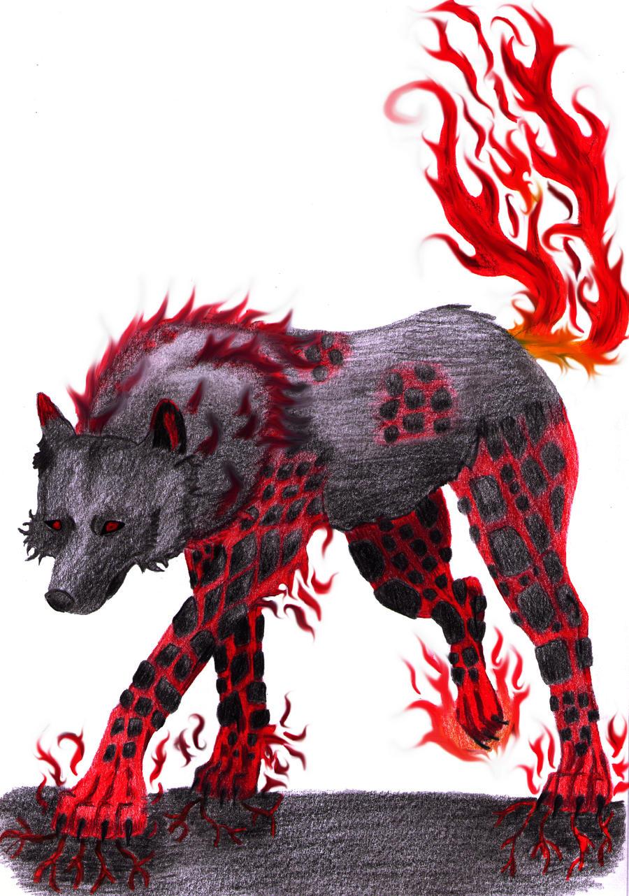 Fire Elemental Wolf by hollowsoul37 on DeviantArt