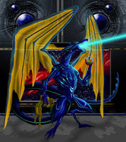 Ridley-Samus' Defeat by Dragonxster
