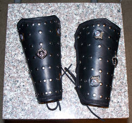 Flaming Skulls Bracers