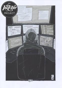 #Inktober2017 - 26/31 - The Hacker